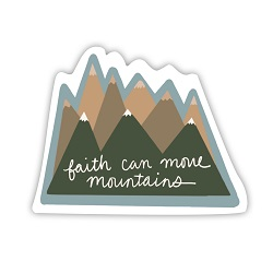 Faith Can Move Mountains Vinyl Sticker faith can move mountains sticker, lds scripture sticker, lds water bottle sticker, lds laptop sticker, lds vinyl stickers