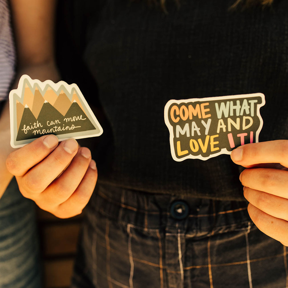 Come What May and Love It Vinyl Sticker - LDP-VS-LOVEIT