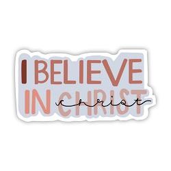 I Believe in Christ Vinyl Sticker i believe in christ sticker, lds scripture sticker, lds water bottle sticker, lds laptop sticker, lds vinyl stickers