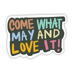 Come What May and Love It Vinyl Sticker come what may and love it sticker, lds scripture sticker, lds water bottle sticker, lds laptop sticker, lds vinyl stickers