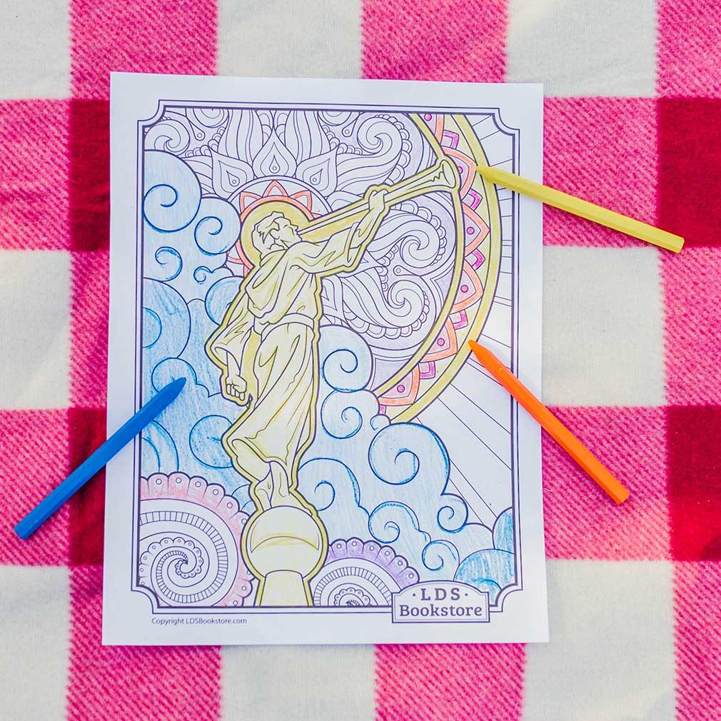 Angel Moroni Coloring Page - Printable - LDPD-PBL-COLOR-ANGMO
