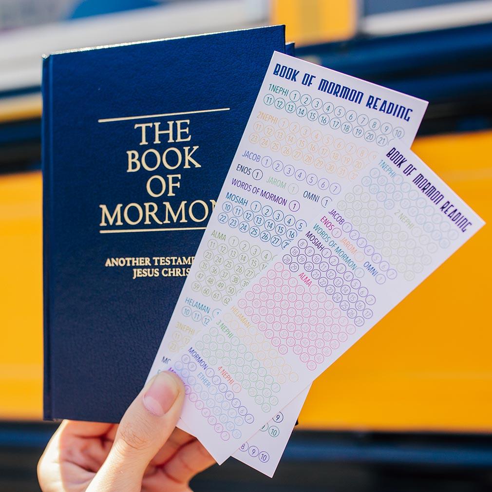 Book of Mormon Reading Chart Bookmark - Large - LDP-BOMBKMKLRG