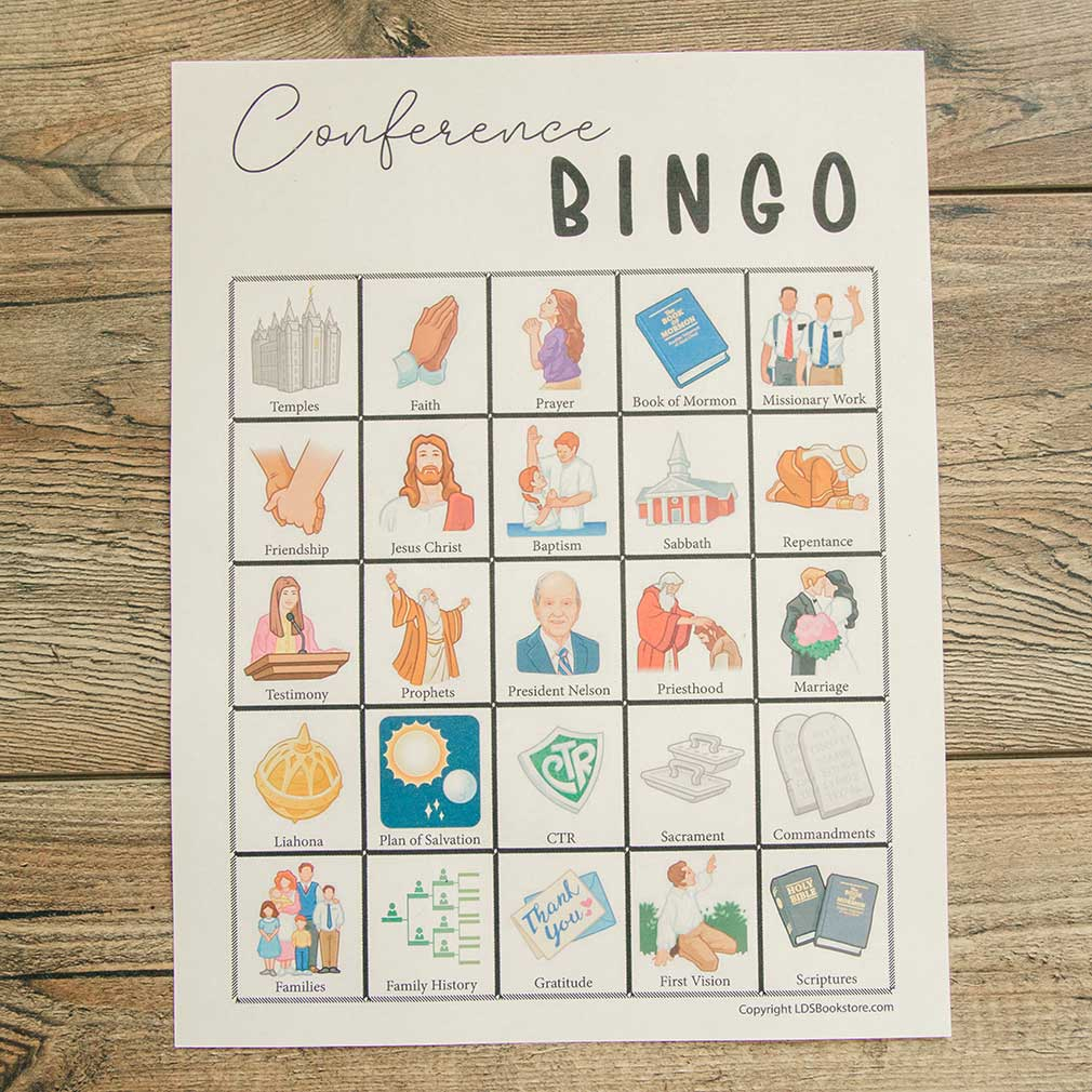 General Conference Bingo - Printable - LDPD-PBL0331