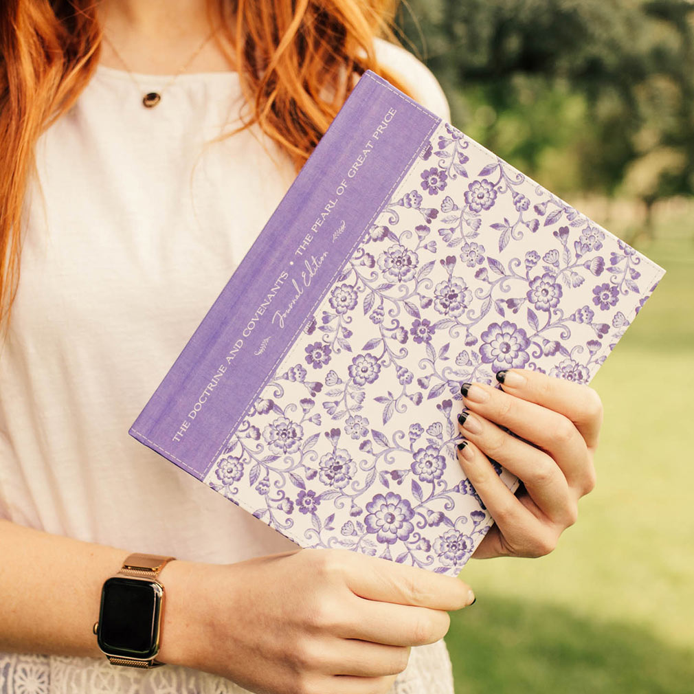 The Doctrine and Covenants and Pearl of Great Price Journal Edition - Blue Floral - DBD-5230647