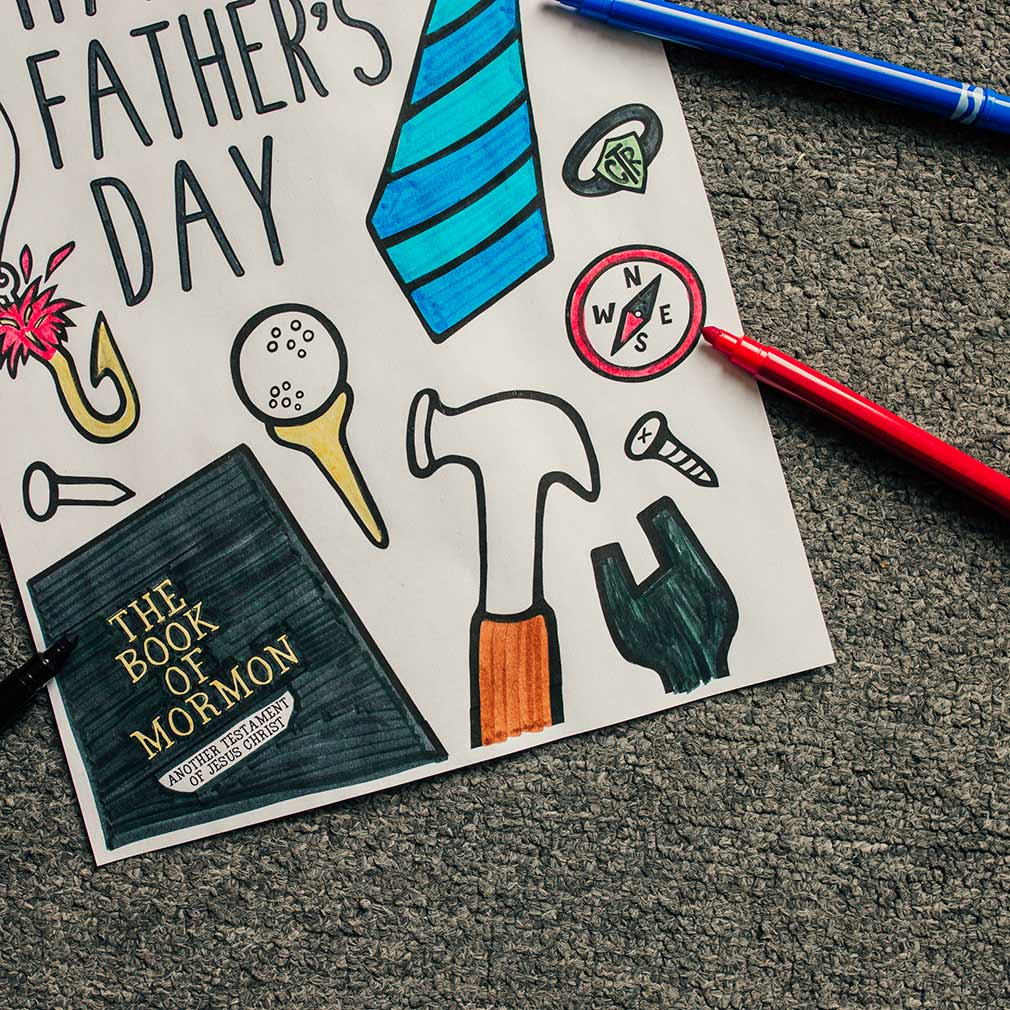 Happy Father's Day Coloring Page - Printable - LDPD-COLOR-DAD19