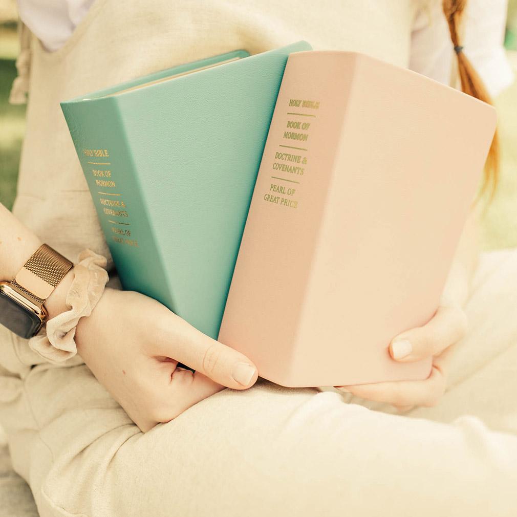 Hand-Bound Leather Quad - Blush Pink - LDP-HB-RQ-BPK