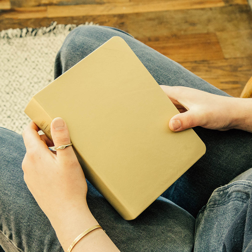Hand-Bound Leather Quad - Pearlized Gold - LDP-HB-RQ-PZG