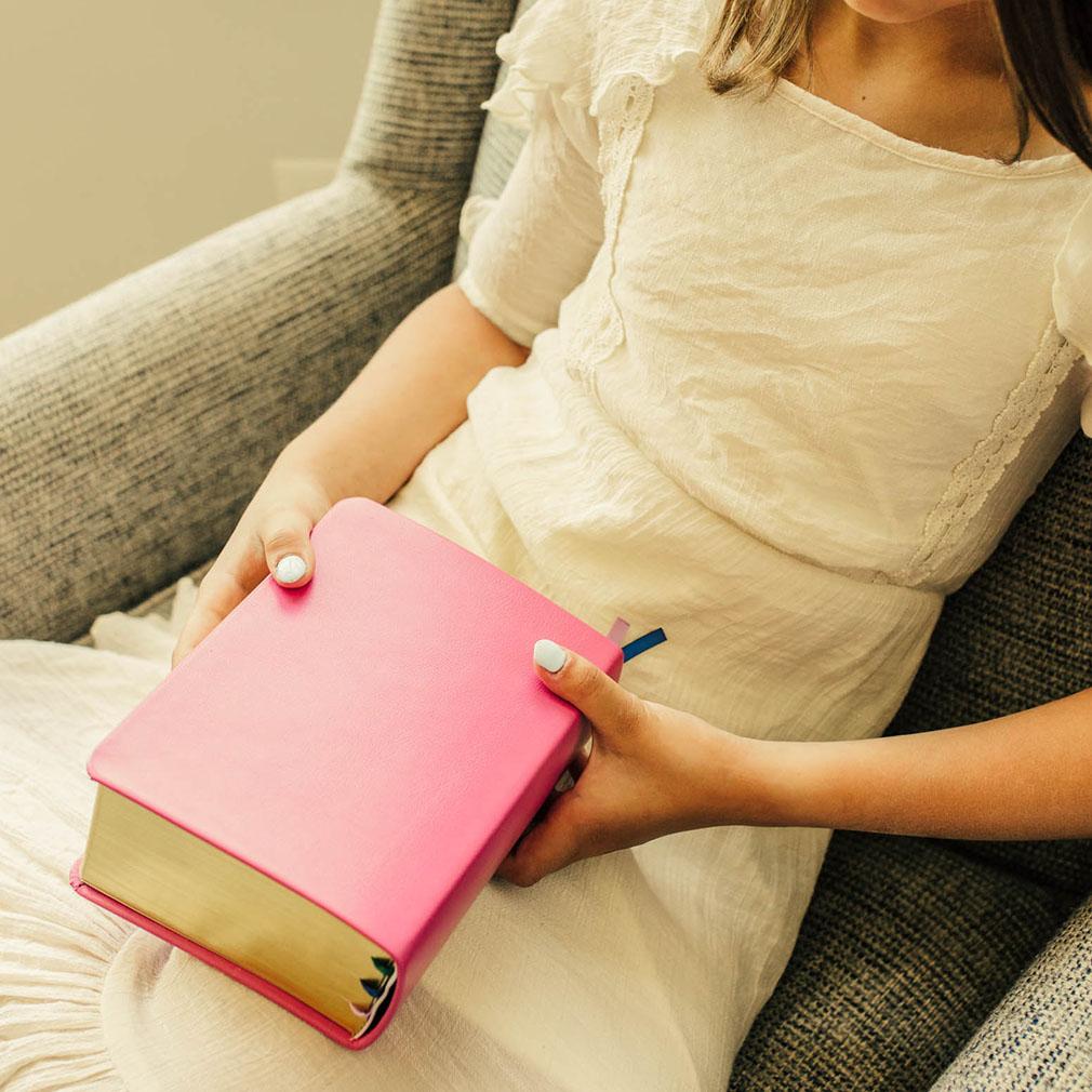Hand-Bound Leather Quad - Pink - LDP-HB-RQ-PNK