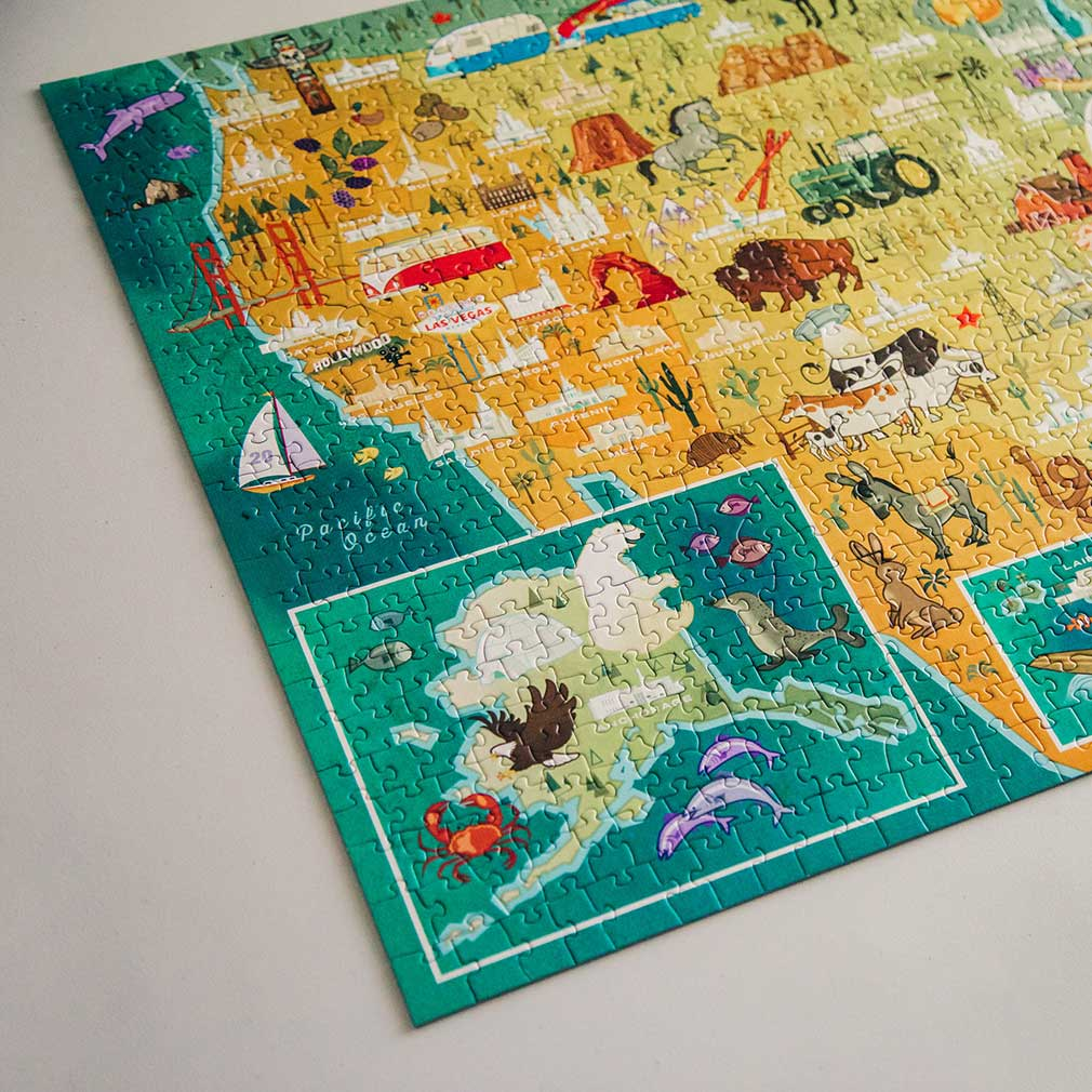 United States Temple Map Puzzle - BL-2002